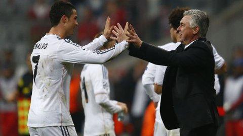 SPILLER IKKE: Carlo Ancelotti vil ikke risikere å bruke en småskadet Cristiano Ronaldo mot Celta.