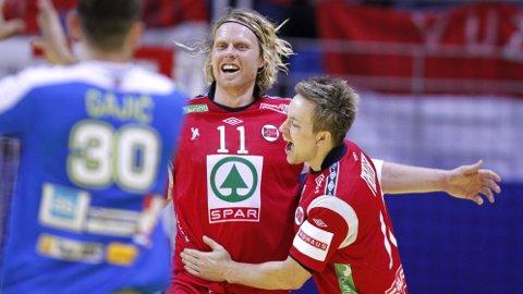 FERDIGE PÅ LANDSLAGET: Veteranene Erlend Mamelund og Håvard Tvedten er ikke med i Norges VM-kvalifiseringskamper.