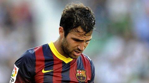 TIL SALGS: Cesc Fabregas kan være på vei bort fra Barcelona.