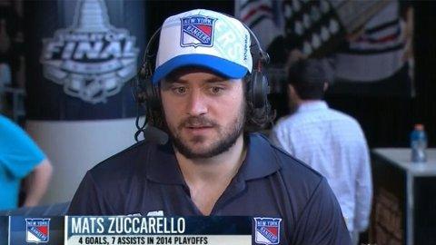 FINALEKLAR: Mats Zuccarello og New York Rangers møter Los Angeles Kings natt til torsdag, klokken 02.00 norsk tid, i den første finalen i best-av-sju-serien.
