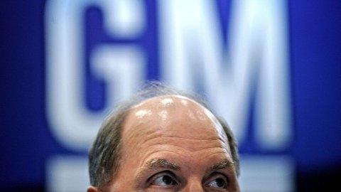 Konsernsjef Fritz Henderson i General Motors.