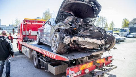 MÅ PUNGE UT: Petter Northug må selv ta regningen for Audien han krasjet i mai.