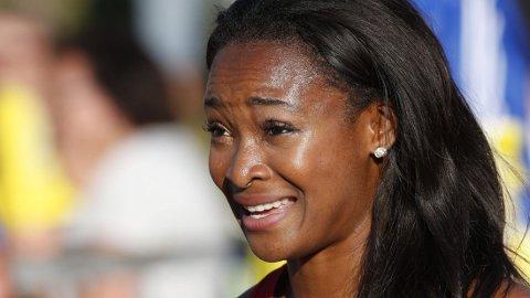 FJERDEPLASS: Ezinne Okparaebo ble nummer fire på hundremeteren på Bislett Games.