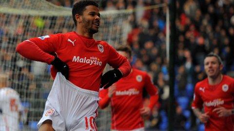 PÅ VEI TIL LEICESTER: Fraizer Campbell kommer trolig til å forlate Cardiff.