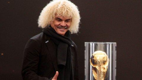 IMPONERT: Carlos Valderrama har latt seg imponere av Colombia i VM i Brasil.