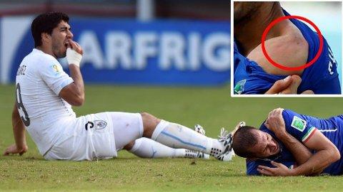 BET TIL: Luis Suarez kom i fkous under møtet med Italia.