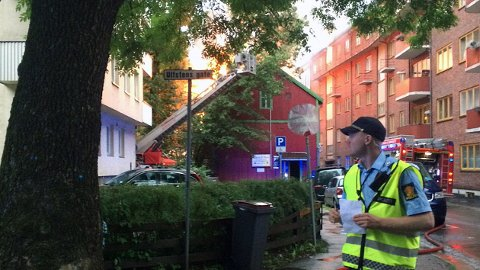Huset i Hjelms gate 3 ble raskt overtent.