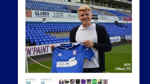 KLAR FOR IPSWICH: Jonathan Parr har signert for Ipswich Town.