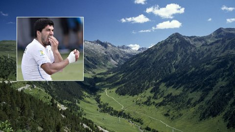 TIL FJELLS: Luis Suarez har tatt med seg sin personlige trener til Pyreneene.