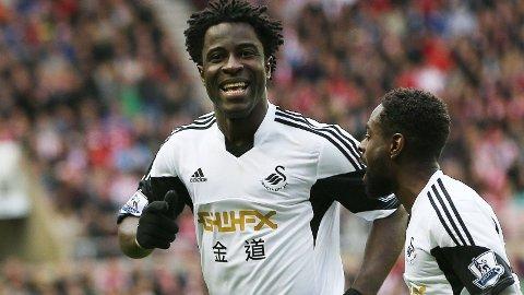 PÅ VEI BORT: Wilfried Bony kan være på vei vekk fra Swansea.