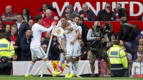MATCHVINNER: Gylfi Sigurdsson scoret det avgjørende målet for Swansea.