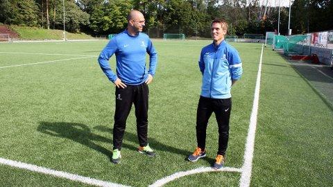 Johan Egil Rudi (t.v) og Ole Johan Aas brenner for talentutvikling i Ullern IF.