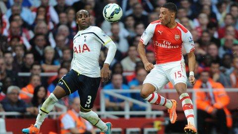 GOD: Alex Oxlade-Chamberlain reddet ett poeng for Arsenal.