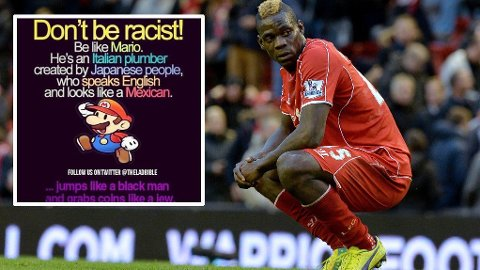 TAR AFFÆRE: Det engelske fotballforbundet har gått til sak mot Mario Balotelli på grunn av denne posten.