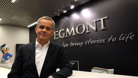 NY MEDIESJEF: Espen Asheim, ny administrerende direktør i Egmont Publishing i Norge, ble torsdag presentert for de ansatte i Nydalen.