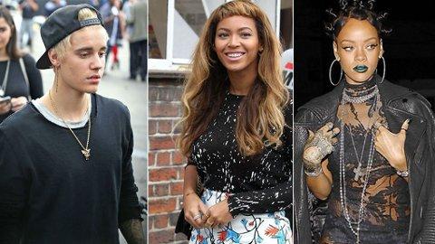 JUSTIN BIEBER bleiket håret, Beyoncè fikk seg pannelugg og Rihannas sveis er vi ikke helt sikre på hva vi skal kalle...