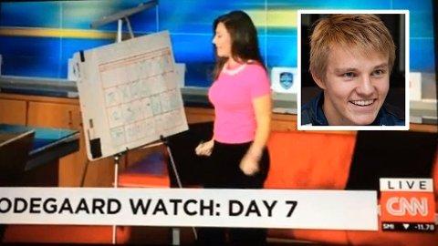 """ØDEGAARD WATCH"": CNN følger Martin Ødegaard hver dag."