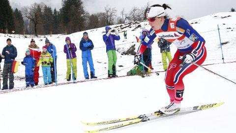 Marit Bjørgen overbeviste på jaktstarten i Tour de Ski søndag.