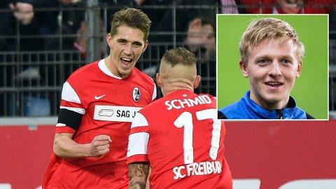 Mats Møller Dæhli så lagkamerat Nils Petersen score ekte hat-trick for SC Freiburg lørdag ettermiddag.