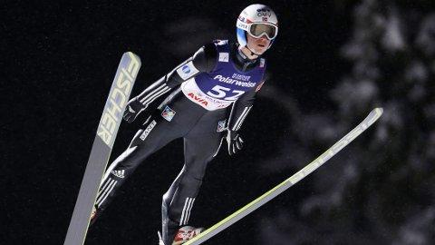 Rune Velta kom på pallen i Willingen søndag ettermiddag.