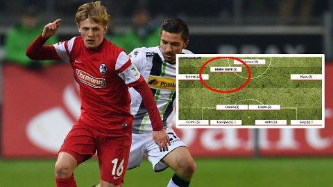 BLANT DE BESTE: Mats Møller Dæhli fikk skryt etter Bundesliga-debuten,