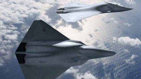 KUNSTIG INTELLIGENT: Framtidens kampfly kan komme med annenpiloten ferdig installert. Slik forestiller Boeing seg at den sjette generasjonen jagerfly kan se ut.
