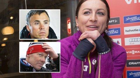 SKEPTISKE: Justyna Kowalczyks Norge-uttalelser får Vidar Løfshus og Egil Kristiansen til å reagere.