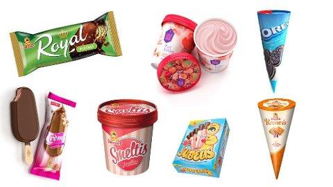 SOMMERFØLELSE: Dette er noen av nyhetene fra iskrem-produsentene.