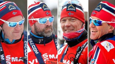 Roar Hjelmeset, Trond Nystad og Egil Kristiansen vurderer fortsatt om de skal fortsette som trenere for det norske langrennslandslaget. Arild Monsen er imidlertid klar på at han skal være med videre.