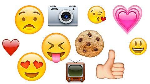 TELEFON: Stadig flere har samtaler kun bestående av smilefjes og symboler.