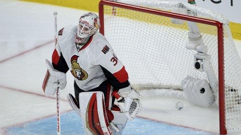 BENKET: Andrew Hammond fikk ikke spille kamp tre mot Montreal, og spiller trolig heller ikke neste match mot Montreal.