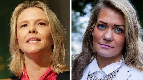 UENIGE: Landbruksminister Sylvi Listhaug får kritikk av Senterpartiets Sandra Borch for årets tilbud til bøndene.