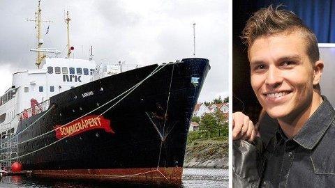 MØNSTRER PÅ: Atle Pettersen hopper på MS «Sjøkurs» i Vega lørdag 4. juli, og er programleder påfølgende uke sammen med Nadia Hasnaoui når båten flytter seg til kysten av Trøndelag og Møre og Romsdal.
