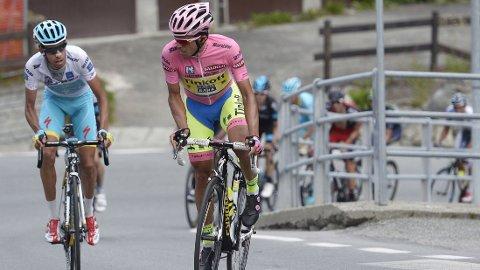 Contador og Aru. FOTO: NTB scanpix