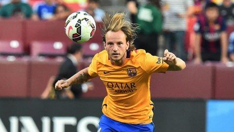 BEST NÅR DET GJELDER: Ivan Rakitic har spilt store deler av kampene i Barcelonas sesongoppkjøring, men legger ikke særlig mye i resultatene. FOTO: NTB scanpix