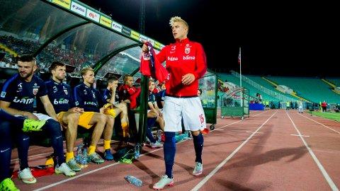 VRAKET: Per Ciljan Skjelbred fikk ikke starte EM-kvalifiseringskampen mot Bulgaria.
