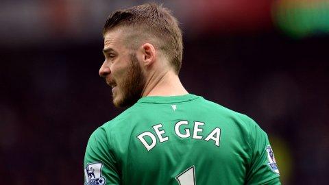 KLAR FOR KAMP: David De Gea vil vokte United-buret mot Liverpool på lørdag.