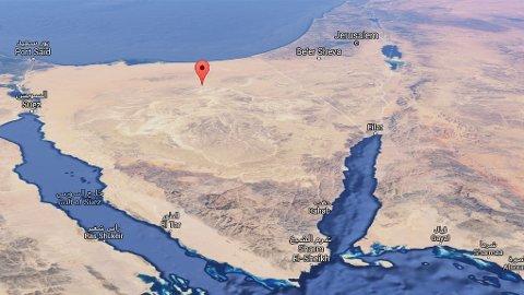 Flyet skal ha styrtet nær Hasna, nord på Sinai-halvøya.