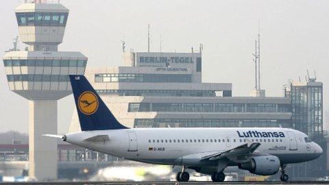 Et Lufthansa-fly i Tyskland.