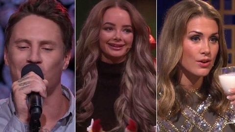 PÅ TV-SKJERMEN: OnklP, Sophie Elise og Tone Damli har alle underholdt oss i løpet av året som har gått.
