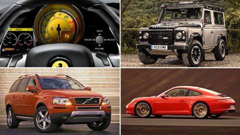 Nytt år betyr nye bilmodeller, men det betyr også at vi må si farvel til noen. Illustrasjonsbilder.