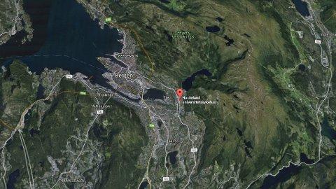 MISTET STRØMMEN: Haukeland universitetssykehus i Bergen ble onsdag morgen rammet av strømbrudd etter uværet.