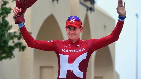 VANT Alexander Kristoff kunne juble etter seieren på den avsluttende etappen av Tour of Oman.