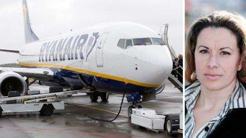 GIKK TIL SAK: Tidligere Ryanair-flyvertinne Alessandra Cocca gikk i 2013 til sak mot det irske selskapet etter at hun ble sagt opp. I september skal Høyesterett avgjøre hvilke lands lover som skal legges til grunn i saken.