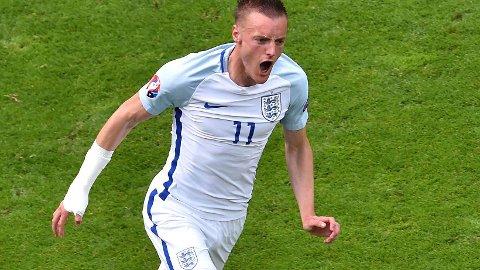 ØNSKET: Leicester- og Enland-spiller Jamie Vardy er koblet til Arsenal.