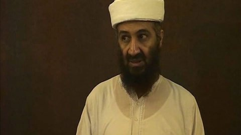 HEVNE FAREN: Osama bin Laden ble drept i et amerikansk kommandoangrep mot bygningskomplekset hans i Abbottabad i Pakistan i mai 2011. For tredje gang i år er sønnen på banen med trusler om å hevne faren.