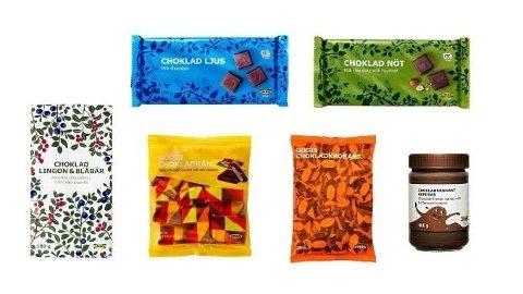 Det er disse sjokoladeproduktene IKEA tilbakekaller.