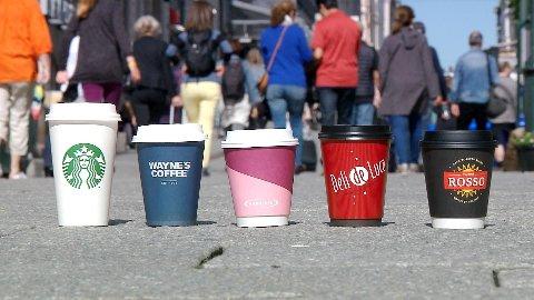 DET MEST KJENTE IKKE NØDVENDIGVIS BEST: Her er alle kaffene som ble testet.