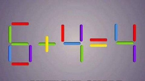 HMMM: Flytt på en av pinnene, løs regnestykket.