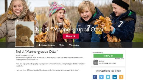 SAMLER INN: Det er flere aksjoner på Barnekreftforeningens nettsider som samler inn penger, som reaksjon på foreningens nei til pengene fra Mannegruppa Ottar.